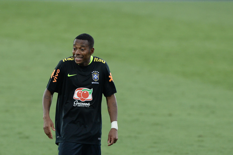durante o treino da Selecao Brasileira realizado no Estadio Nilton Santos no Rio de Janeiro, antes do amistos contra a Colombia.