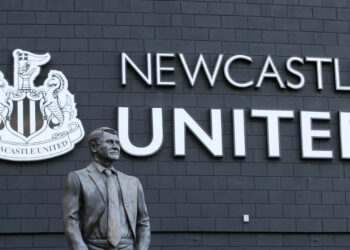 The statue of Sir Bobby Robson outside the stadium Newcastle United v Burnley - Premier League - St James' Park 29-02-2020 . (Photo by Richard Sellers/EMPICS/PA Images via Getty Images)