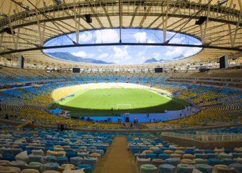 Vista panorâmica interna do estádio do Maracanã após reforma para atender infraestrutura básica para a Copa das Confederações de 2014.